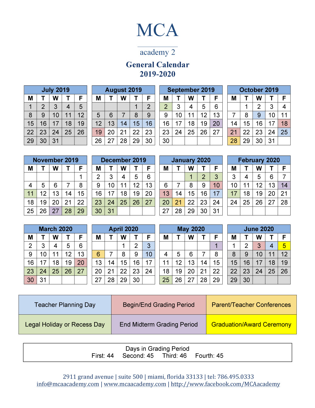 School-Christmas-Vacation-Starts-2020-Miami-Florida School Calendar 2019 2020   MCA Academy